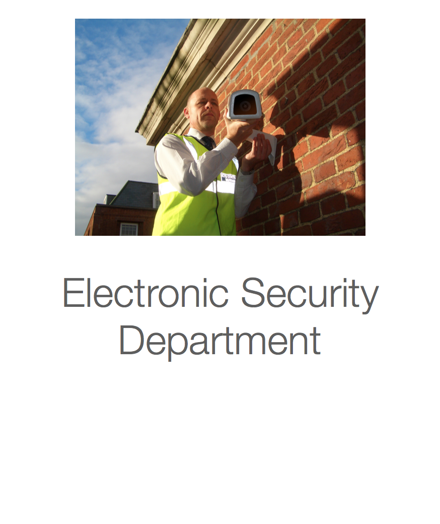 ICTS Electronic Security Department